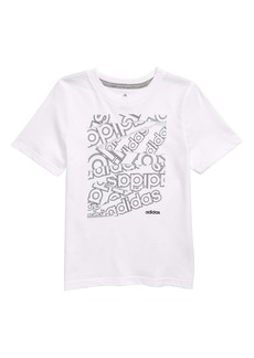 adidas Core Print Logo T-Shirt (Toddler Boys & Little Boys)