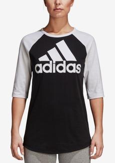 adidas Cotton 3/4-Sleeve Baseball T-Shirt