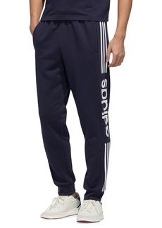 Adidas Cotton-Blend Fleece Jogger Pants