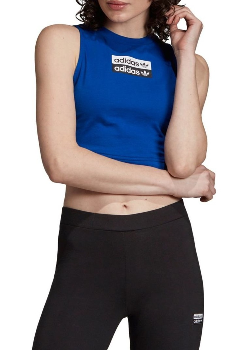 Adidas Cropped Cotton Tank Top