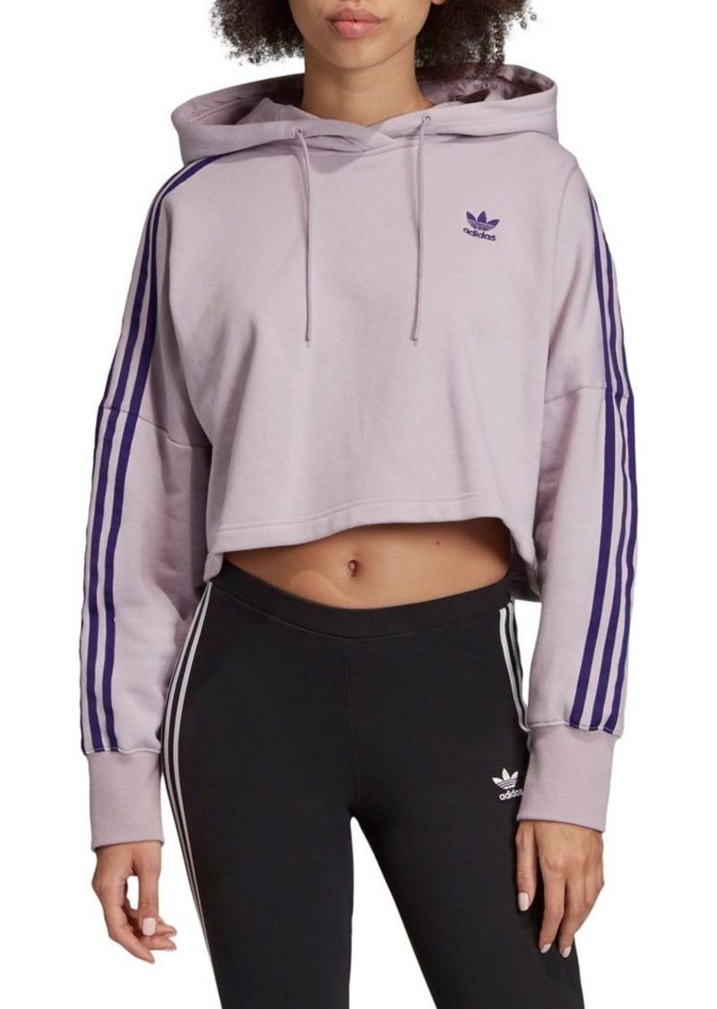 Adidas Cropped Drawstring Hoodie