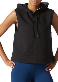 Adidas Cropped Sleeveless Performance Hoodie