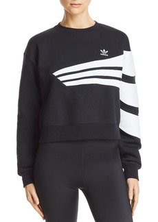 Adidas Cropped Striped Sweatshirt
