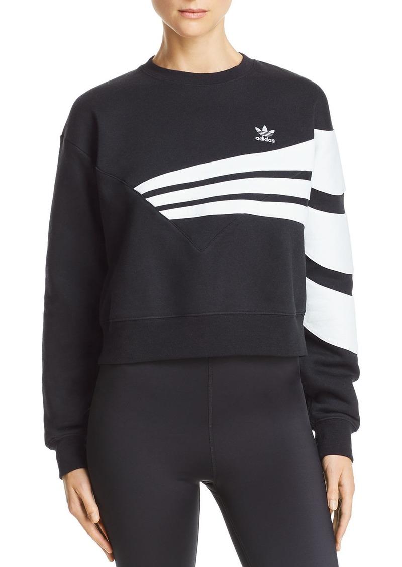 Adidas Cropped Striped Sweatshirt