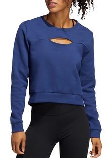 Adidas Cutout Cropped Sweatshirt