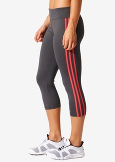 adidas D2M Three Stripes Climalite Cropped Leggings
