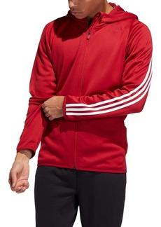 adidas Daily 3-Stripe Zip Hoodie