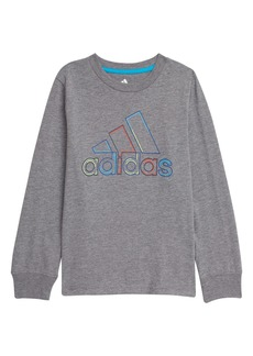 adidas Kids' Dash Outline BOS Long Sleeve Graphic Tee (Toddler & Little Boy)