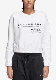 adidas Originals Equipment Cotton Cropped Sweatshirt