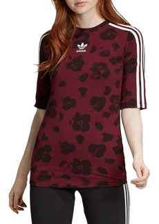 Adidas Floral 3-Stripes Tee