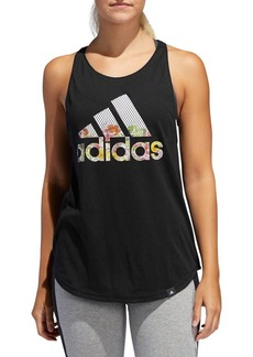 Adidas Floral Essentials Logo Tank Top