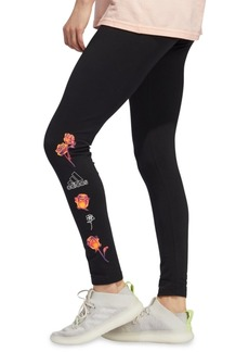adidas Women's Floral Logo Leggings