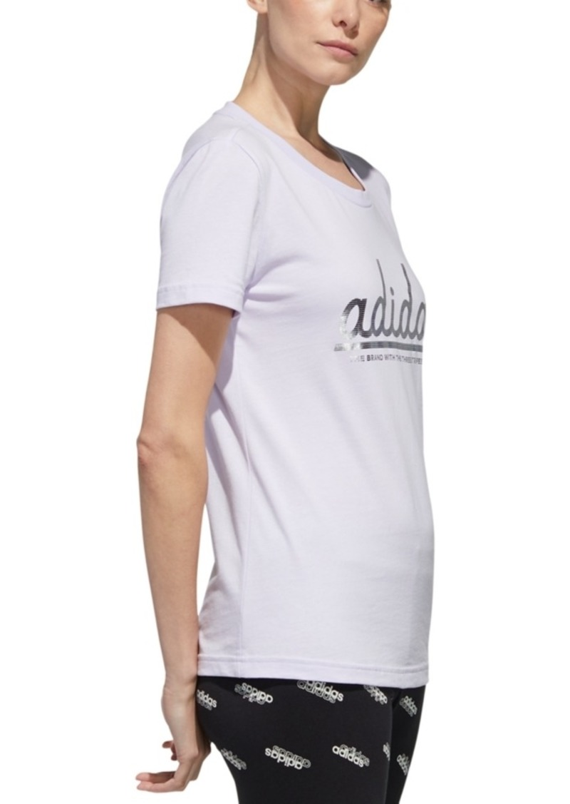 adidas Women's Foil Logo T-Shirt