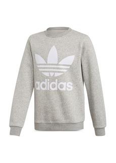 Adidas Girls' Classic Trefoil Logo-Print Sweatshirt - Big Kid