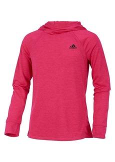 Adidas Girl's Climalite Melange Jersey Hoodie