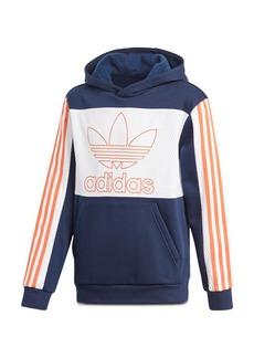 Adidas Girls' Color-Block Striped-Sleeve Hoodie - Big Kid