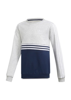 Adidas Girls' Color-Blocked Fleece Sweatshirt - Big Kid