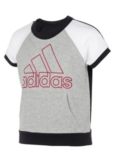 Adidas Girl's Colorblock French Terry Raglan Top