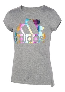Adidas Girl's Front Vented Cotton Blend Tee