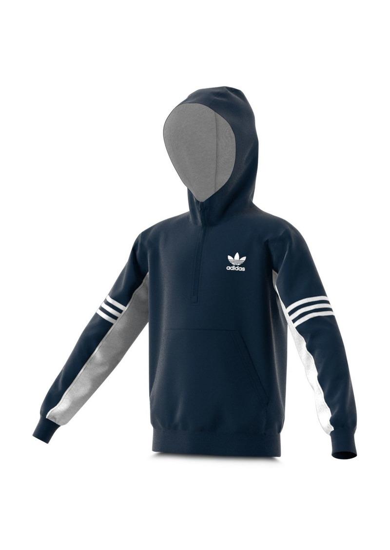 Adidas Girls' Half-Zip Fleece Hoodie - Big Kid