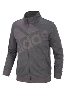 Adidas Girl's Logo Heathered Tricot Jacket