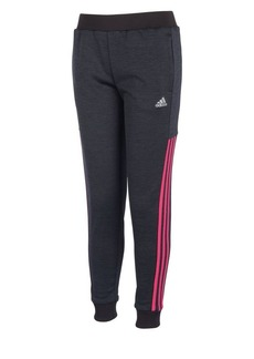 Adidas Girl's Logo Regular-Fit Fleece Jogger Pants