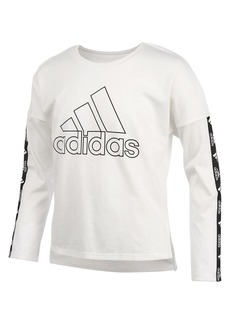 Adidas Girl's Long-Sleeve Cropped Tee