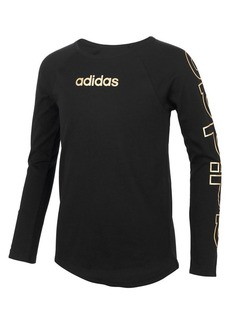 Adidas Girl's Long-Sleeve Raglan Tee