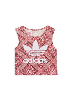 Adidas Girls' Printed Logo Top - Big Kid
