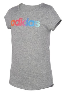Adidas Girl's Rainbow Gradient Cotton Blend Tee