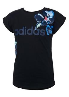 Adidas Girl's Short-Sleeve Drop Shoulder Tee