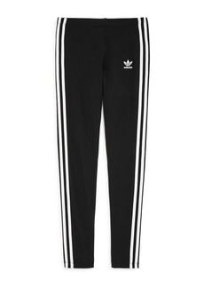 Adidas Girls' Signature Striped Leggings - Big Kid