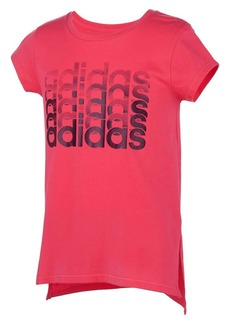Adidas Girl's Thank You Cotton-Blend Jersey Tee