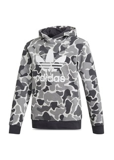 Adidas Girls' Trefoil Camouflage-Print Hooded Sweatshirt - Big Kid