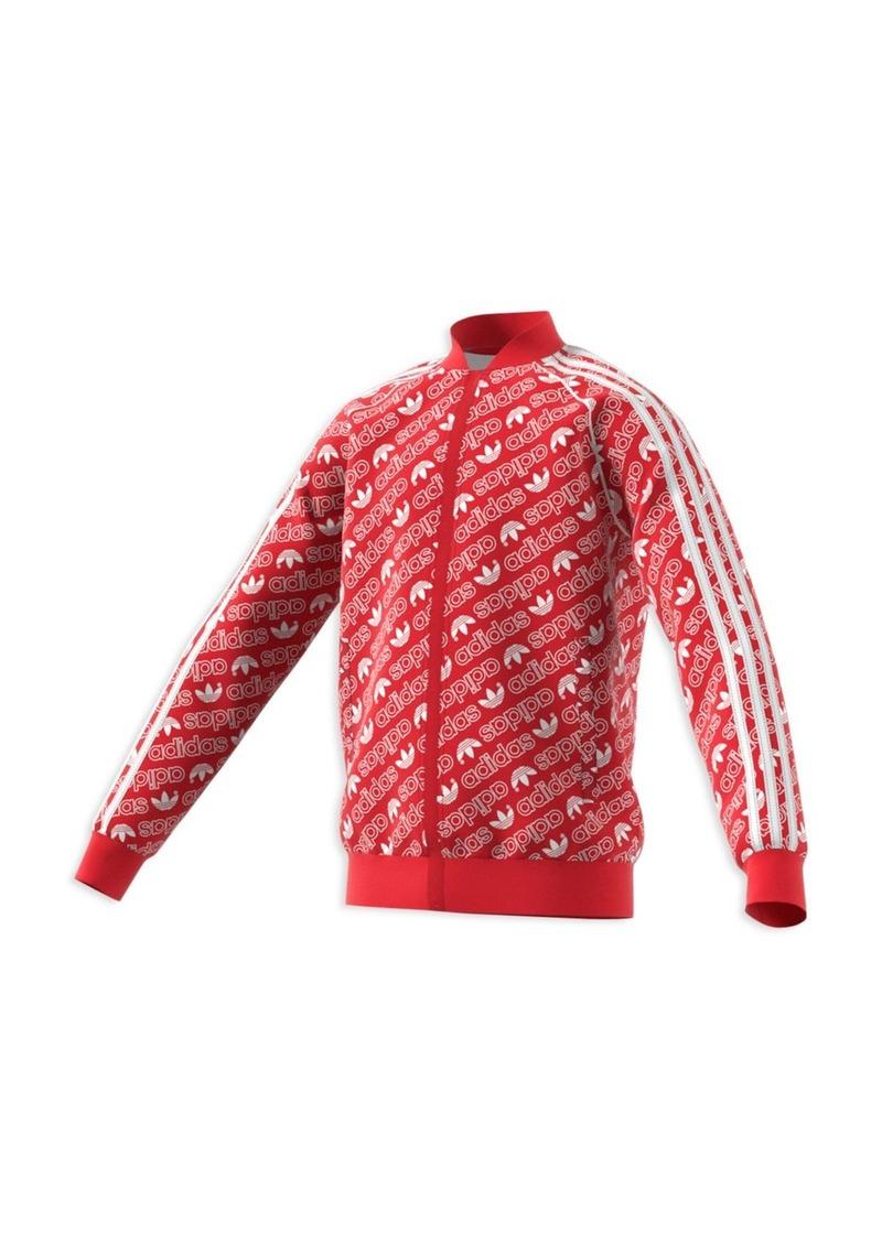 Adidas Girls' Trefoil Print Jacket - Big Kid