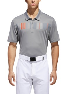 adidas Golf Ultimate Stripe Chest Piqué Polo