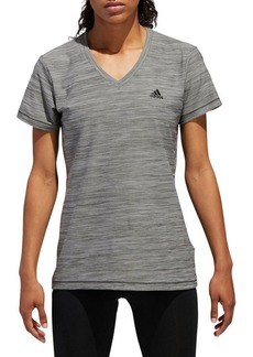 Adidas Heathered V-Neck Tech Tee