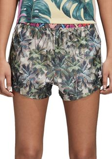Adidas Hgh-Waist Tropical Print Shorts