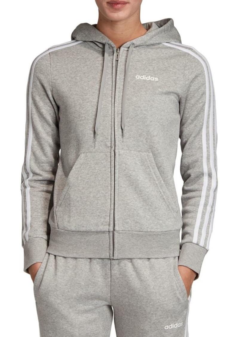 Adidas Hooded Cotton-Blend Fleece Hoodie