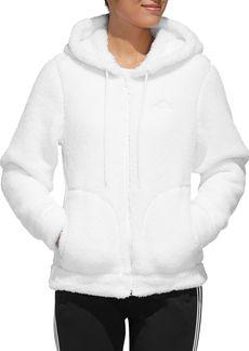 adidas Hooded Sherpa Fleece Jacket