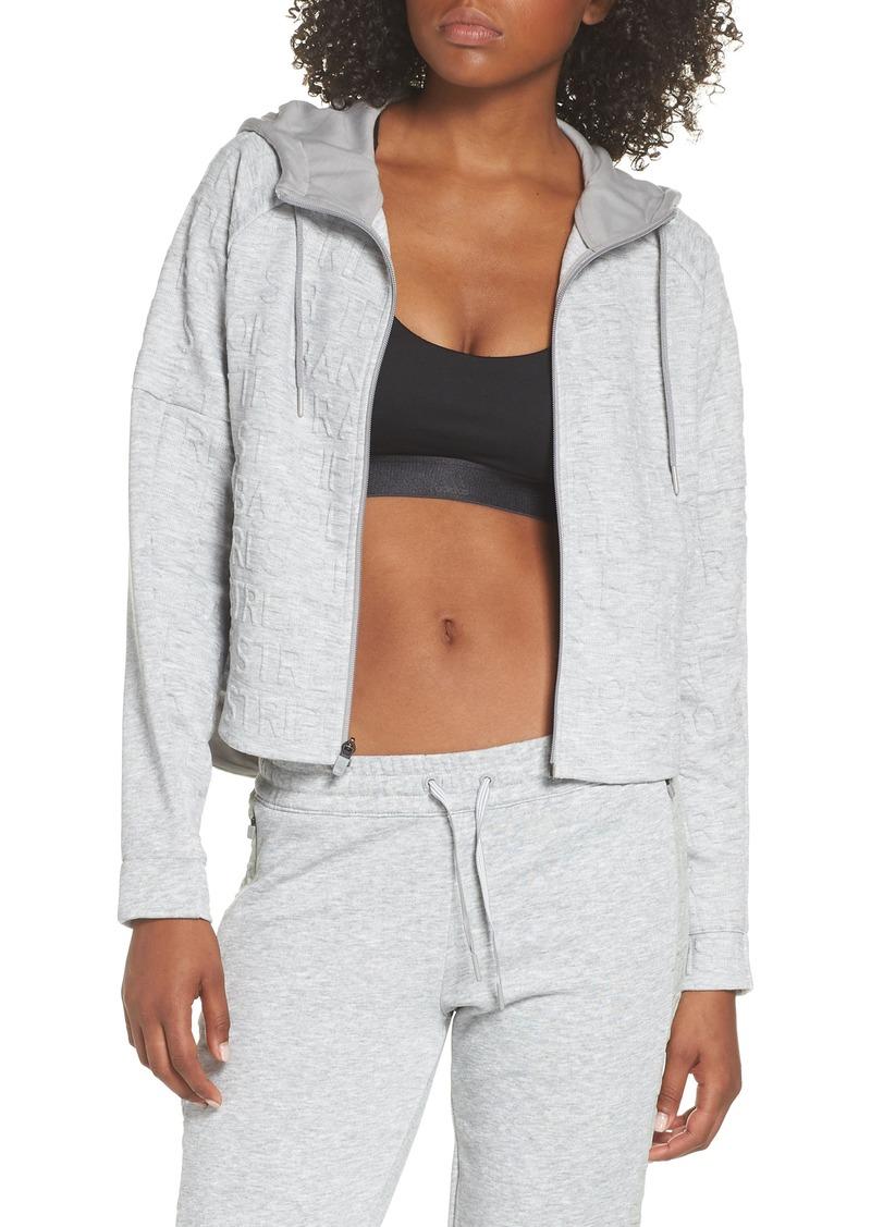 adidas ID Q4 Typo Crop Hooded Jacket