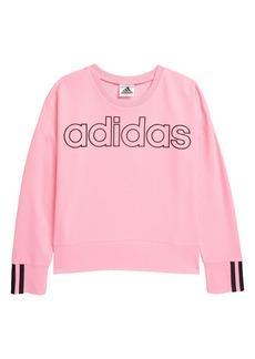 adidas Kids' 3-Stripes Crewneck Sweatshirt (Big Girl)