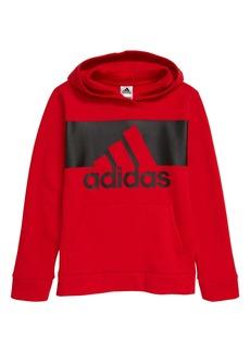 adidas Kids' Badge of Sports Logo Hooded Sweatshirt (Big Boy)