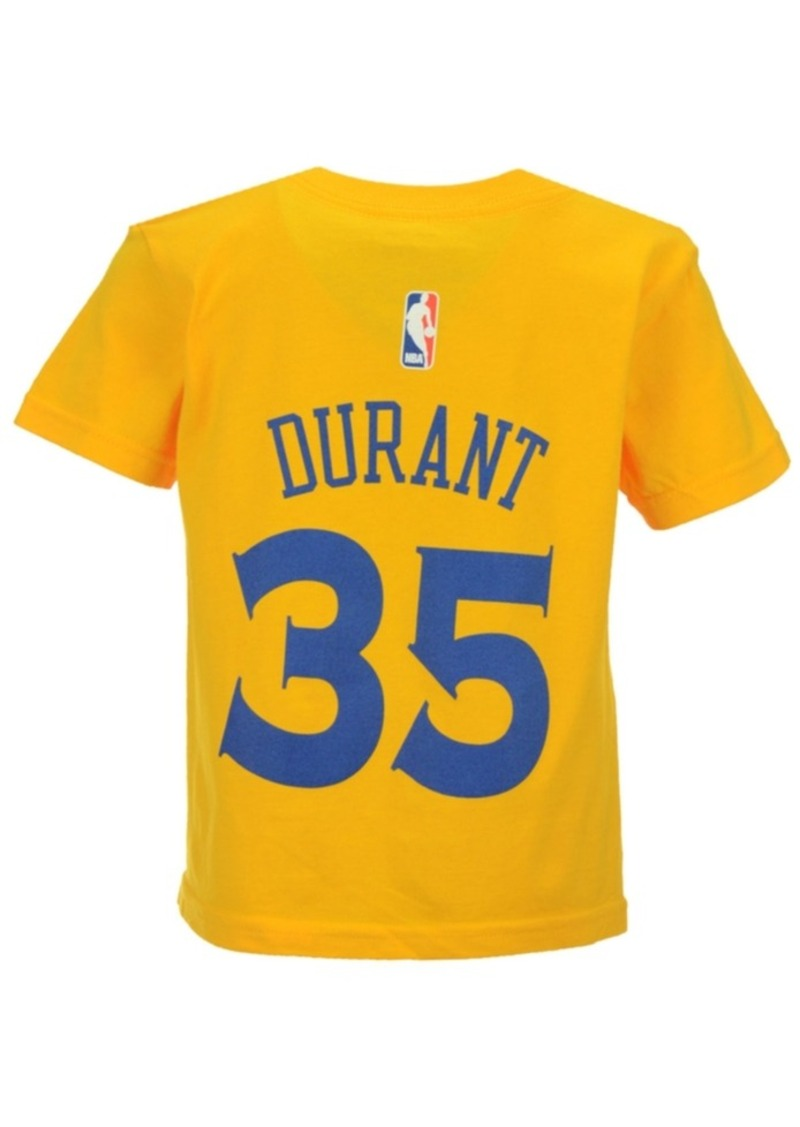 brand new 82926 e1326 Kids' Kevin Durant Golden State Warriors Name And Number T-Shirt