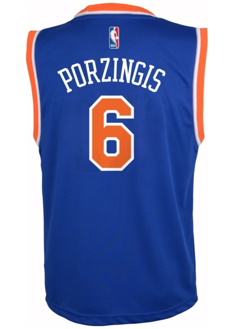 adidas Kids' Kristaps Porzingis New York Knicks Revolution 30 Jersey, Big Boys (8-20)