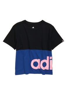 adidas Kids' Linear Colorblock Graphic Tee (Big Girl)