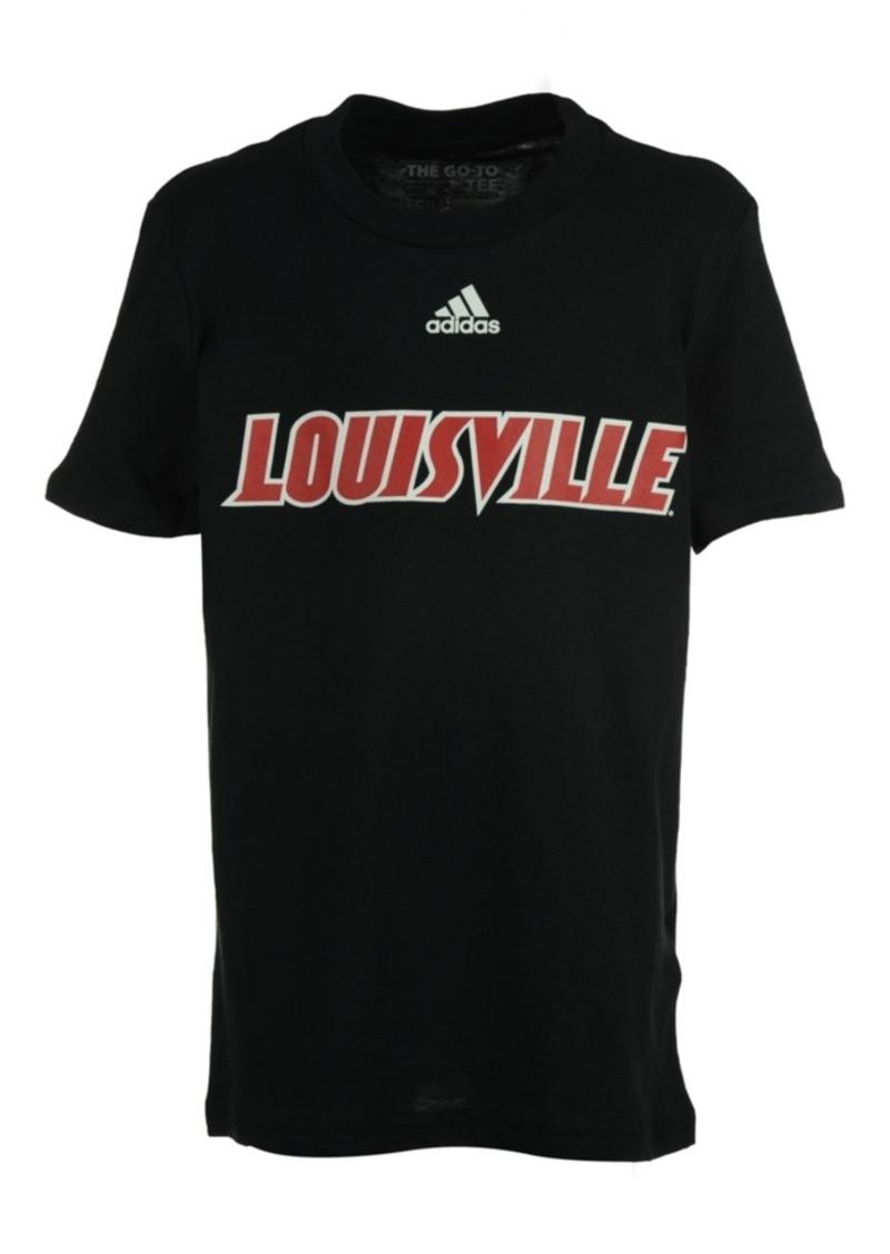 adidas Kids' Louisville Cardinals Team Font Arch Short Sleeve T-Shirt, Big Boys (8-20)