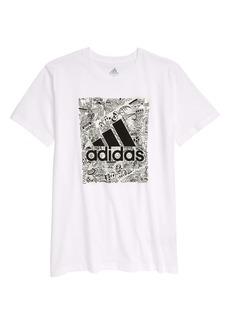 adidas Kids' Sport Doodle Graphic Tee (Big Boy)