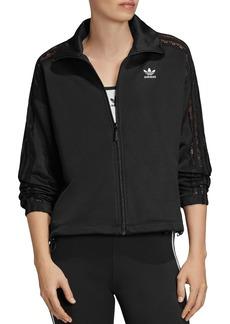 Adidas Lace-Inset Triple Stripe Track Jacket