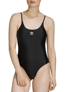 Adidas Large Logo One Piece Swimsuit